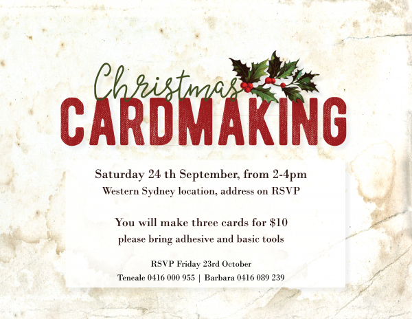 Stamping event for Christmas September