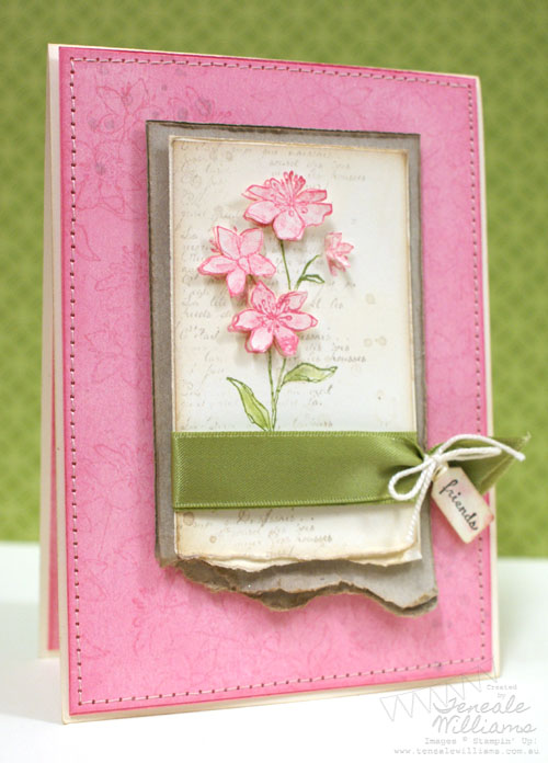Stampin' Up, card making ideas, Simply Soft, French Foilage, friendship, Regal Rose, Teneale Williams, Australia