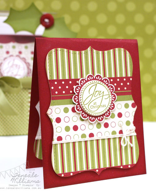Stamp A Stack, Stampin' Up!, Quick and Easy Christmas Cards, Teneale Williams, Perfect Punches