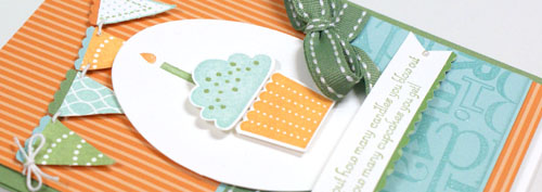 Pennant Parade, Stampin' Up!, teneale williams, birthday, build a cupcake