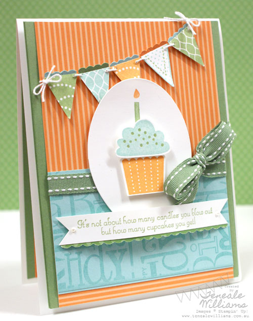 Stampin' Up!, Teneale Williams, Teneale, Pennant Parade, Birthday, Boy, Male, Build a Cupcake, Punch