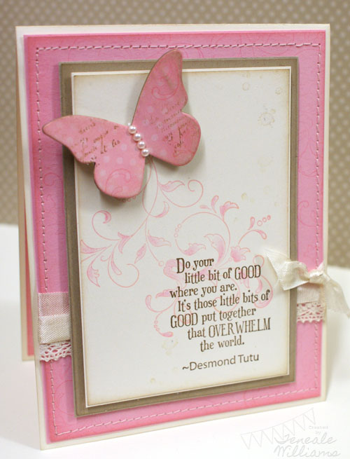 Teneale Williams, Stampin' Up!, stampin up, case study, french foliage, creative elements, butterfly die, sizzix, Pursuit of happiness, Australia, Sydney, Blacktown, Penrith, Mt Druitt, West,