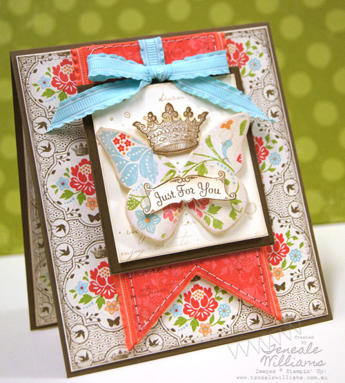 Stampin' Up!, Butterfly, Just For You, Sale-A-Bration, SAB, Card, Teneale Williams, DSP, Australia, Sydney