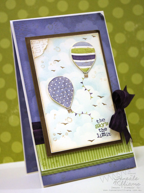 Up, Up & Away, Stampin' Up!, Teneale Williams,