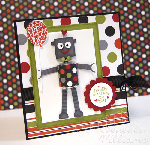 Stampin' Up!, Australia, Teneale Williams, Boys, Male, Birthday, Candy, Hershey's , Robot, Card Class Sydney, Kids Card