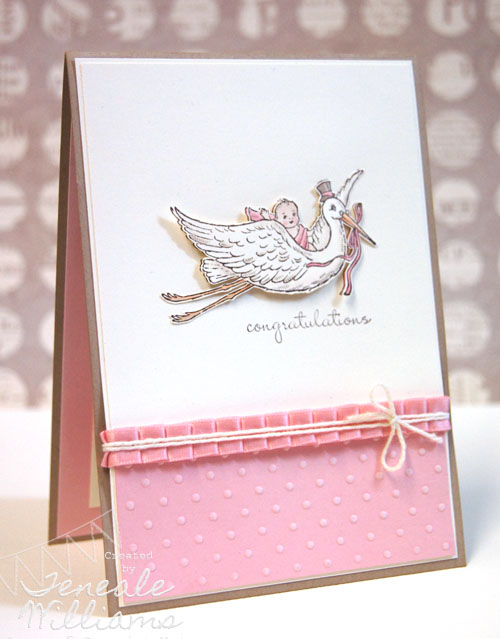 Teneale Williams, Stampin' Up!, Sydney, Australia, Baby Card, Baby Girl, Welcome Baby, Bring Baby