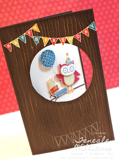 Owl Occasions, Birthday card, stampin' Up!,