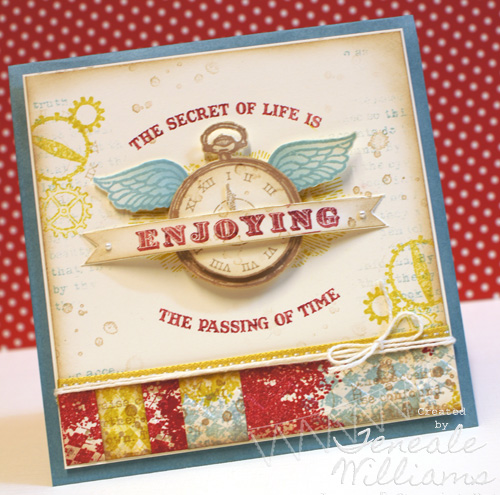Clock Works, Stampin' Up!, Affection Collection, From My Heart, Australia, Teneale Wiliams, Stamping Video