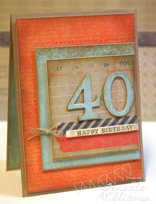 40th Birthday Card By Teneale Williams, #thisandthat #malecard #birthdaymale #stampin'up!