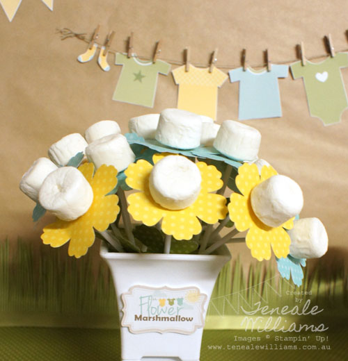 Marshmallow Flowers by Teneale Williams