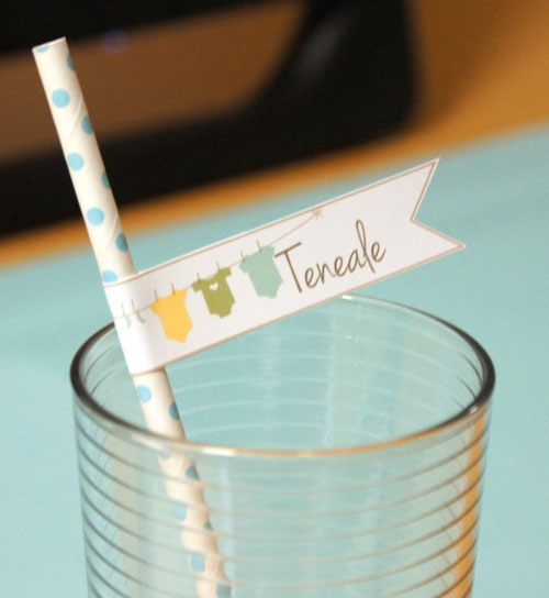 Paper Straw/ Place card MDS by Teneale Williams