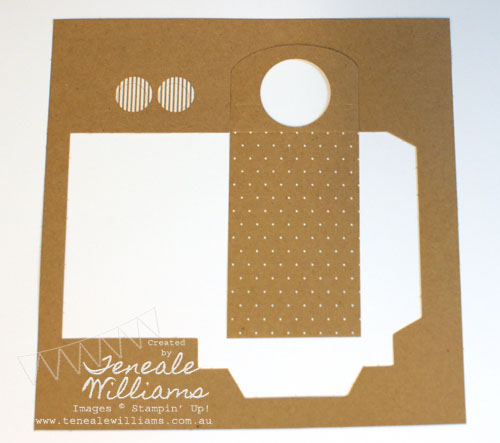 Bottle tag using Stampin' Up! Boutique Boxes Designer Printed Kit. By Teneale Williams #stampin'up!