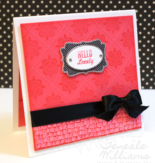 By Teneale Williams. Hello Lovely. Stampin' Up!