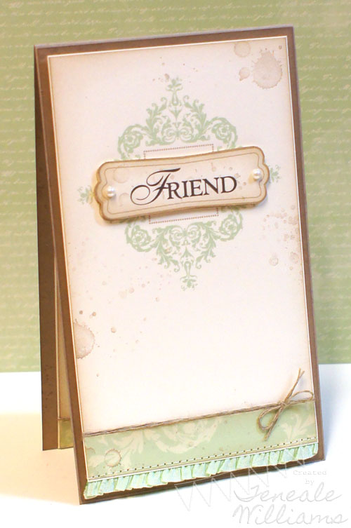 By Teneale Williams, MDS Hybird. Friendship Card. www.tenealewilliams.com.au Stampin' Up! #MDS #stampinup