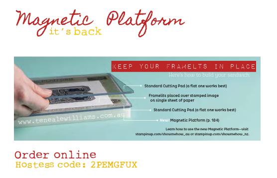 Magnectic Platform. Order online. See Teneale Williams.com.au for a special offer