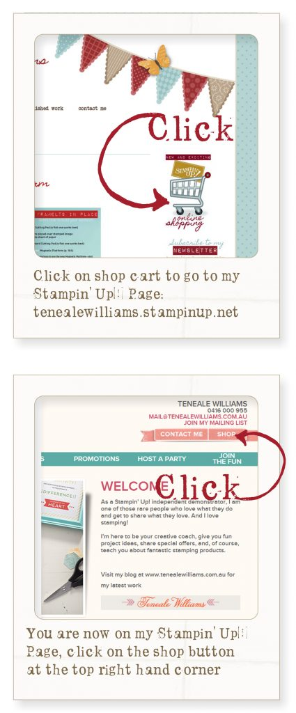 Shop online with Teneale Williams, Stampin' Up! Demo Australia