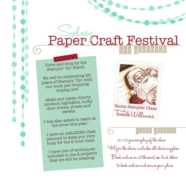 Penrith Paper craft show spring 2013 class Teneale Williams Stampin' Up!