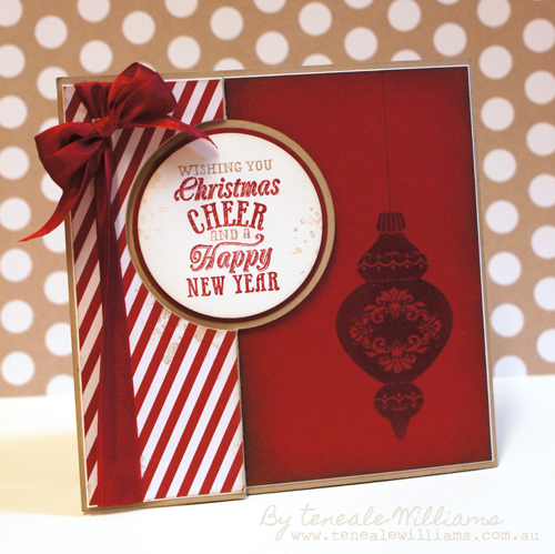 Thinlits Cards Die from Stampin' Up, Circle. By Teneale Williams