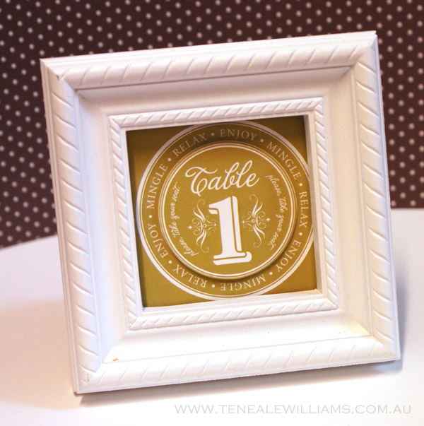 Create your own #wedding #Stationary with #MyDigitalStudio and #StampinUp Table Number