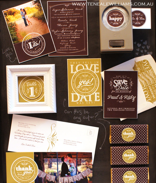 Create your onw #Wedding #Invites #SaveTheDate #ThankYouNotes With #MyDigitalStudio for more info see www.tenealewilliams.com.au