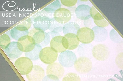 Create a Confetti Background using sponge daubers