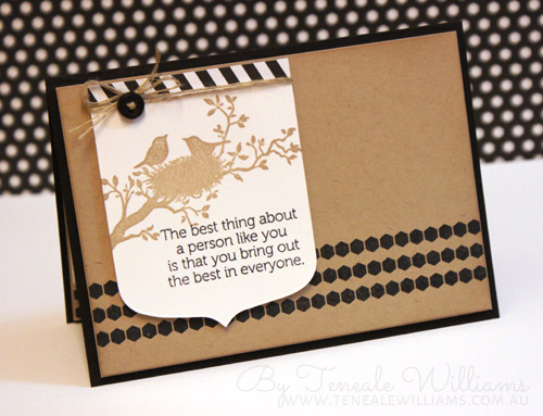 Teneale Williams| Stampin' Up! World of Dreams and Borderettes Stamp Sets used.