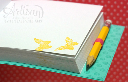 By Teneale Williams| Stamp each page, it does not take that long and with Stampin' Up! Ink no waiting for ink to dry.