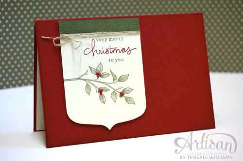 By Teneale Williams| Using non Christmas stamp set, Choose Happiness.