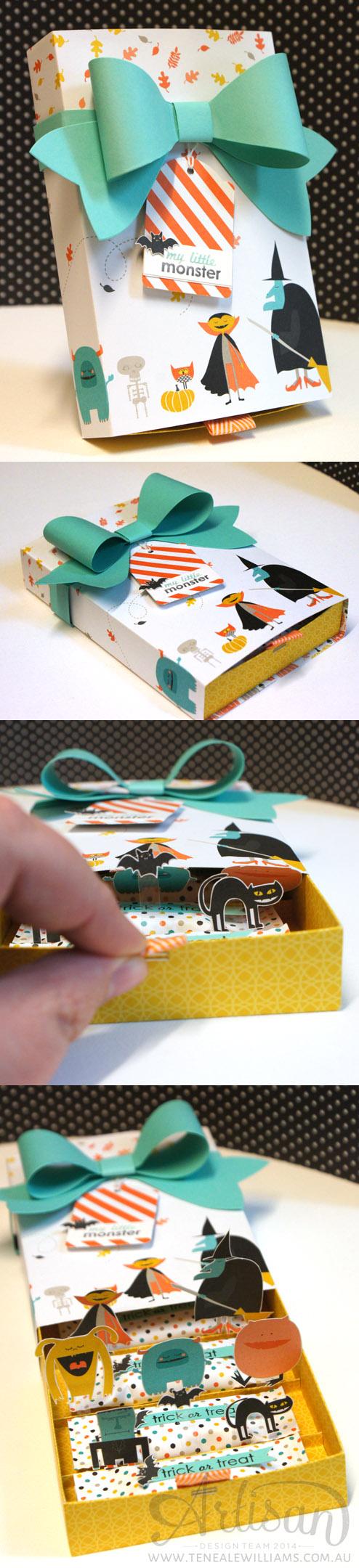 By Teneale Williams | Stampin' Up! Artisan Blog Hop | Halloween pop up treat box