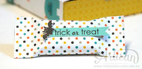 By Teneale Williams | Stampin' Up! Artisan | Halloween pop up slider treat box