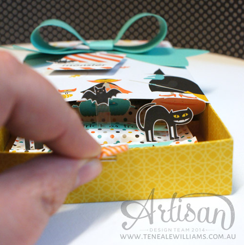 By Teneale Williams | Stampin' Up! Artisan | Slider pop up, see the images spring up!