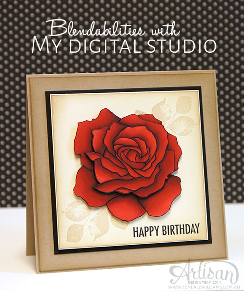 Teneale Williams | Stampin Up!  Artisan  Blog Hop | Blendabilities with MDS