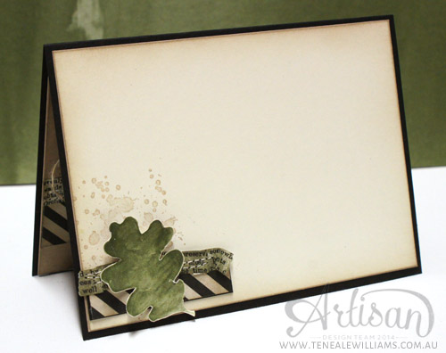 By Teneale Williams | Inside of card | Color Me Autumn DSP, For All Things and Gorgeous Grunge from Stampin' Up!