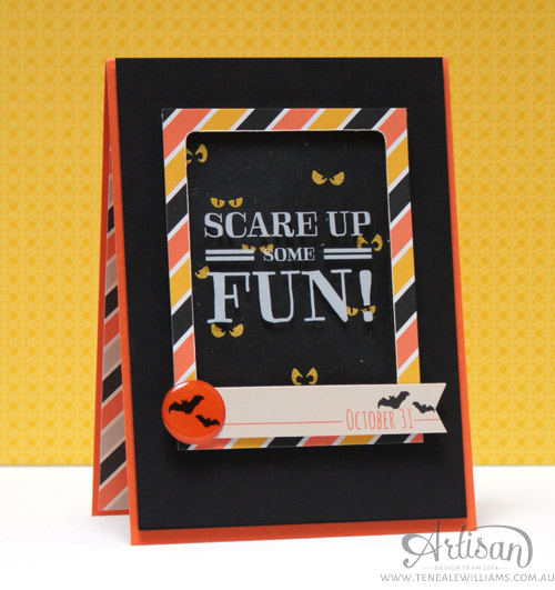 By Teneale Williams | Project Life By Stampin' Up! | Halloween Window Card