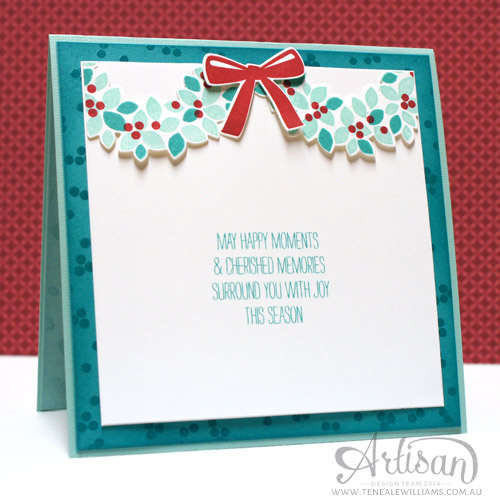 Teneale Williams   Inside of card   Stampin' Up! Wondrous Wreath