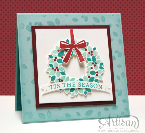 Teneale Williams | Christmas Card | Stampin' Up! Wondrous Wreath