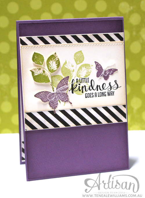 By Teneale Williams | INKspired Sketch Blog Hop 2  | Stampin Up! Kinda  Eclectic