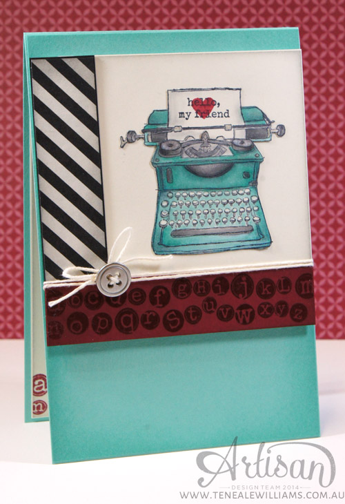 By Teneale Williams | INKspired Sketch #INK004 | Stampin' Up! Tap Tap Tap Stamp Set Used