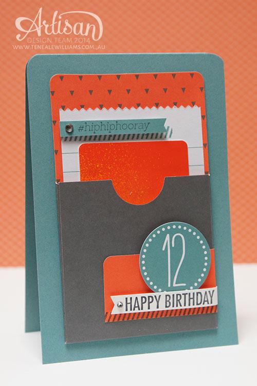 www.tenealewilliams.com.au   Artisan Blog Hop   Using Simply Created Gratitude for Days Kit   iTunes Gift Cards