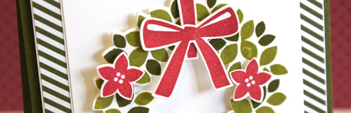 By Teneale Williams | Stampin' Up! Wondrous Wreath | Artisan Blog Hop December