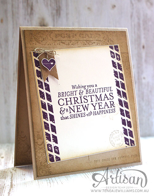 By Teneale Williams | Inside | Stampin'Up! Post Card and Butterfly Basics