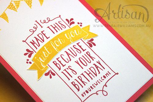 By Teneale Williams | Artisan Blog Hop | Birthday Bash