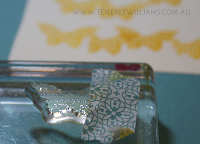 By Teneale Williams | Washi Tape Masking| Stampin' Up!