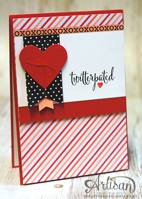 By Teneale Williams | Stampin' Up! Artisan Blog Hop |  #Twitterpater #ValentinesDay #Cardmaking