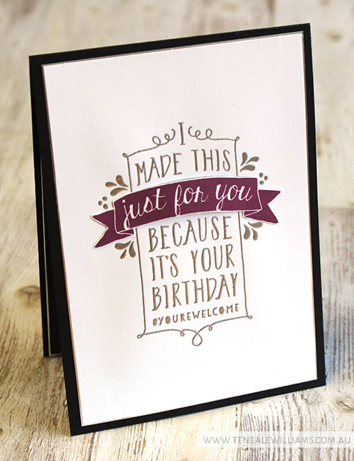 By Teneale Williams | Stampin'Up! Artisan Blog Hop | Balloon Bash {Inside design}