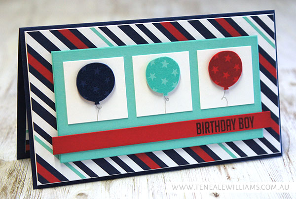 By Teneale Williams | INKspired Sketch #INK014 | Stampin' Up! Balloon Bash