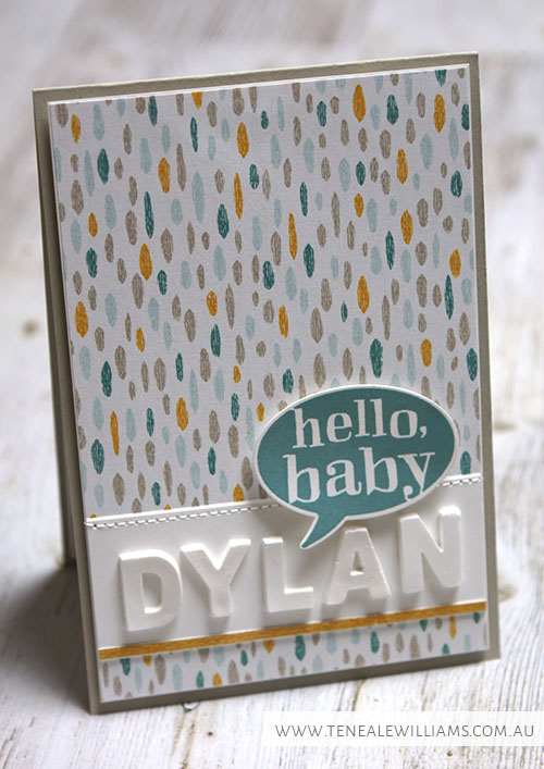 By Teneale Williams | Stampin' Up! Artisan Blog Hop | Simply Pressed Clay with Alphanumeric Mold