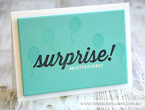 Teneale Williams | Stampin' Up! Artisan DT | Birthday Surprise