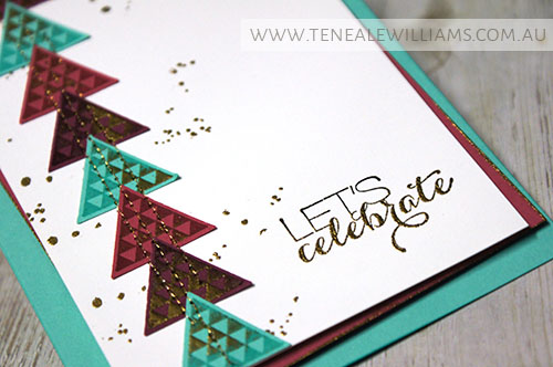 By Teneale Williams | INKspired Sketch #INK015 | Geometrical  Stamp Set from Stampin Up!