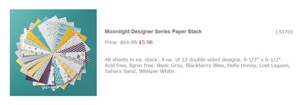 Shop online Australia | Stampin'Up! | Moonlight DSP